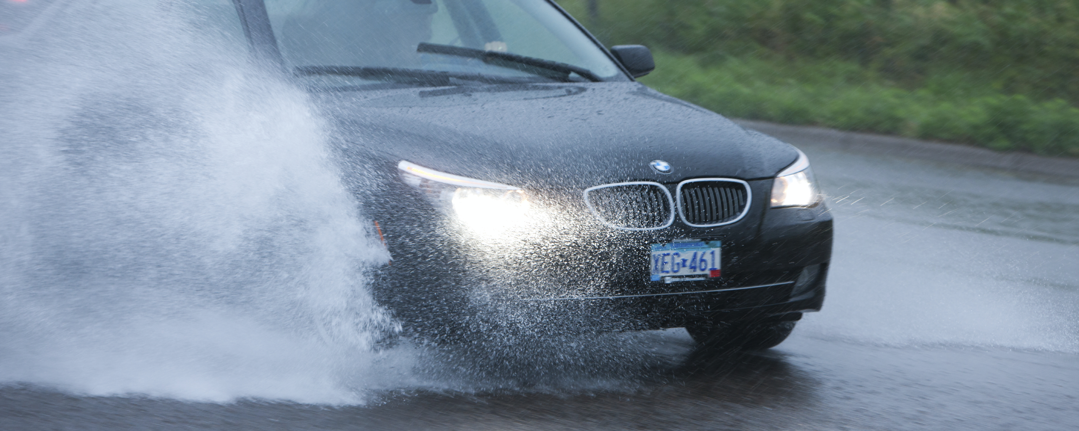 SUBMERGED BMW NEEDED RESCUING AFTER BEING CAUGHT IN FLASH FLOOD
