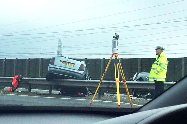 DRIVER CAUSES CRASH WHILE GOING WRONG WAY ON MOTORWAY
