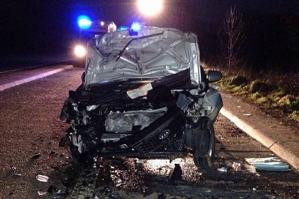 CIDER GUZZLER DRIVES UP ROAD THE WRONG WAY, CRASHES AND AVOIDS JAIL