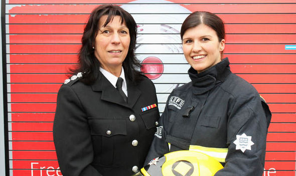 london fire brigade mum daughter