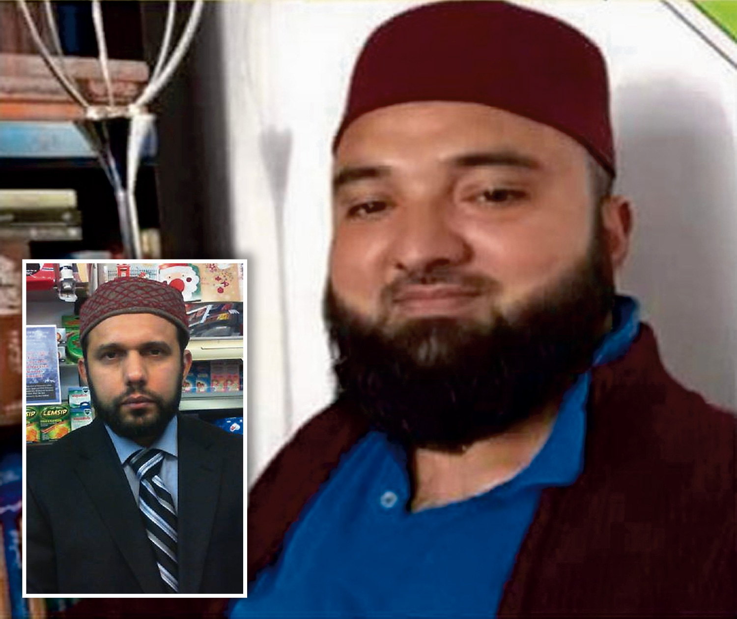 FIRST PICTURE OF HAPPY EASTER SHOPKEEPER KILLER TANVEER AHMED