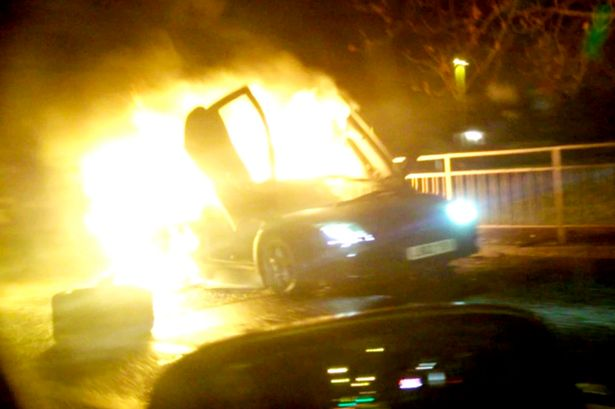 DRIVER BANNED FOR CRASHING BOSS'S LAMBORGHINI WHICH WENT UP IN FLAMES