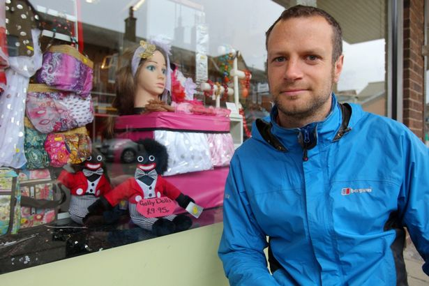 HABERDASHERY SHOP FORCED TO REMOVE GOLLIWOGS FROM WINDOWS