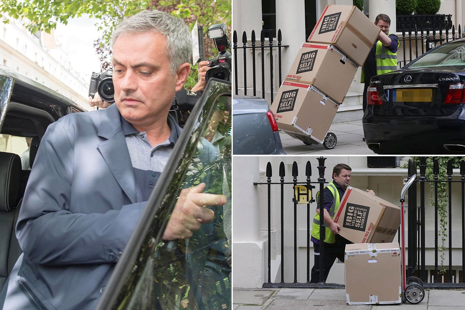MOURINHO TIGHT LIPPED OVER MAN UNITED JOB AS HE LEAVES HIS LONDON HOME