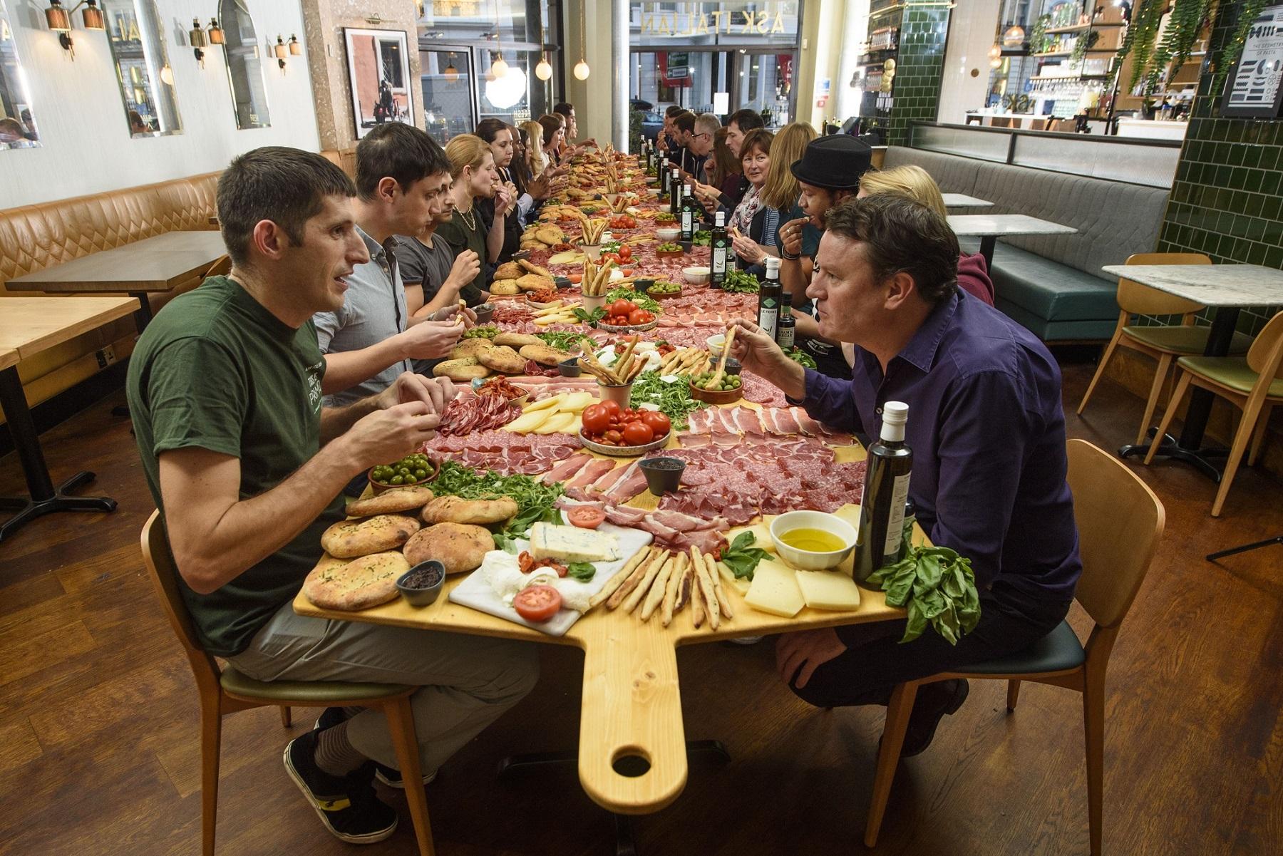 Ask Italian Attempts World Record for Giantipasti